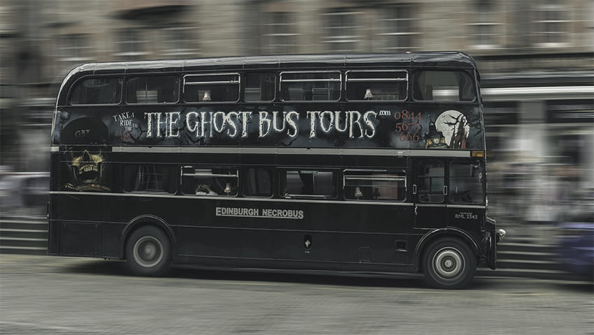 Ghost bus tours in Edinburgh
