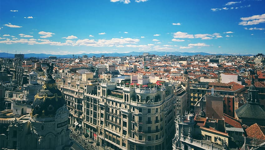 Madrid panoramic view