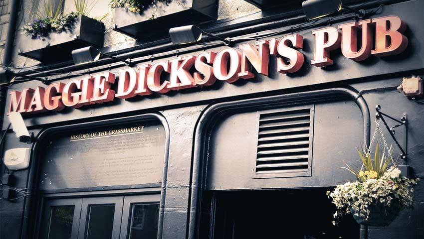 Pubs in Edinburgh - Maggie Dickson - Grassmarket
