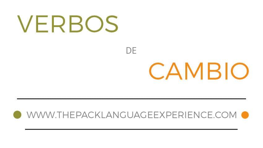 Verbos de cambio en español