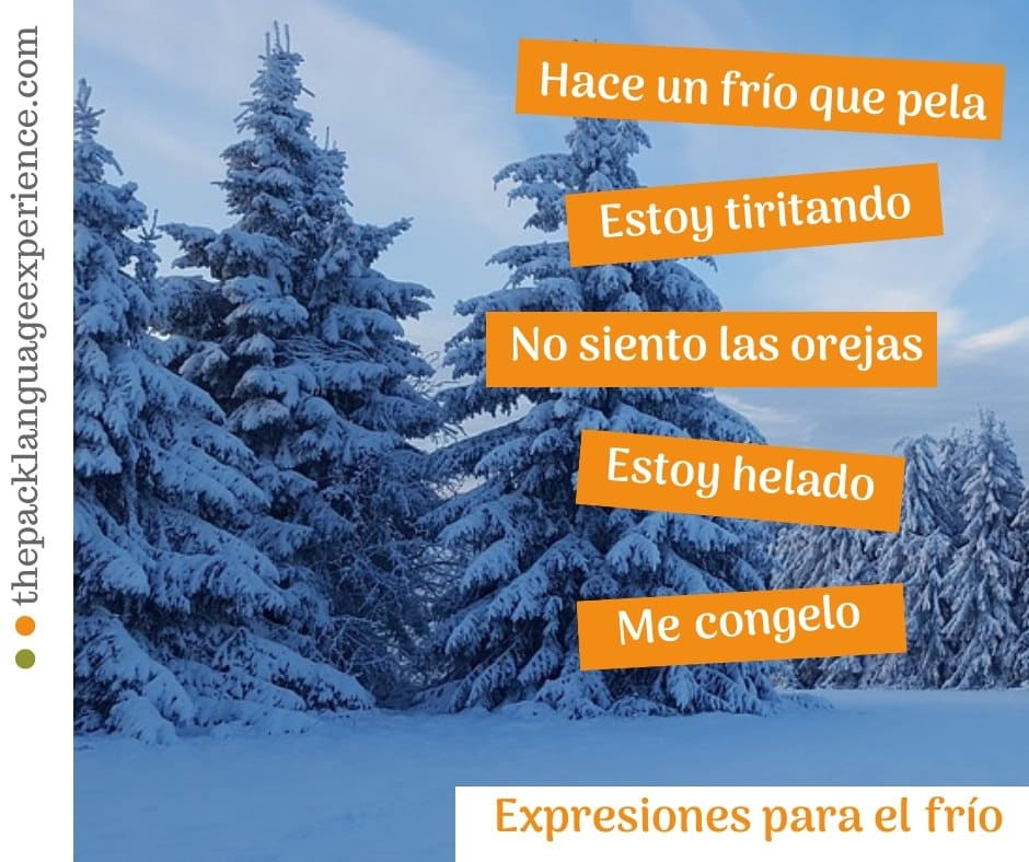 Expresiones en español para el frío