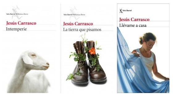 Portadas de libros de Jesús Carrasco